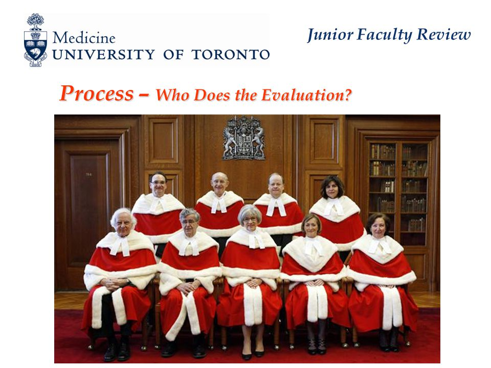 Junior Faculty Review Process – Who Does the Evaluation.