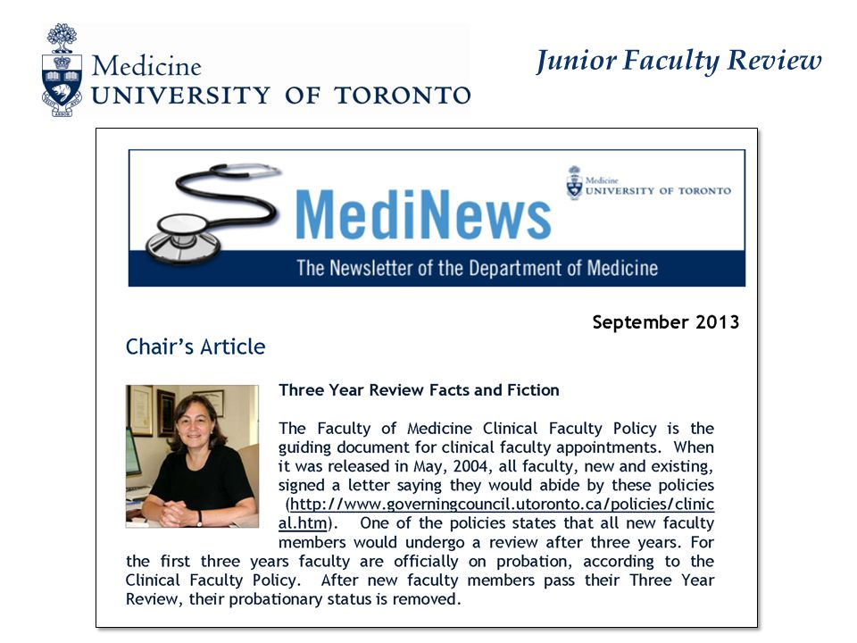 Junior Faculty Review
