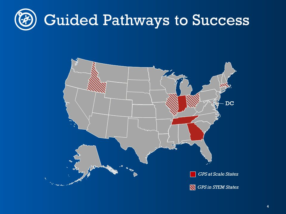 4 Guided Pathways to Success DC GPS at Scale States GPS in STEM States
