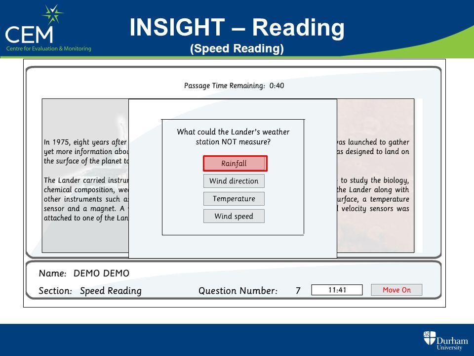 INSIGHT – Reading (Speed Reading)