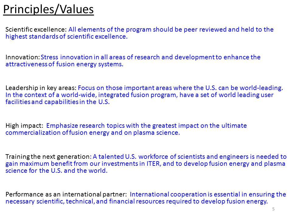 Strategic Objectives/Deliverables Position the U.S.