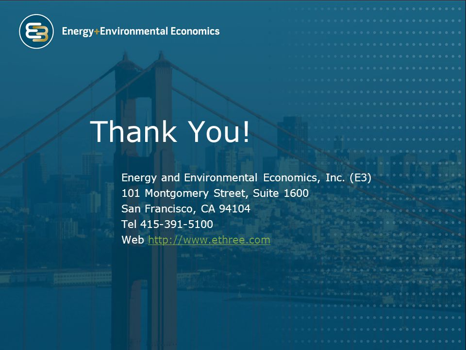 Thank You. Energy and Environmental Economics, Inc.