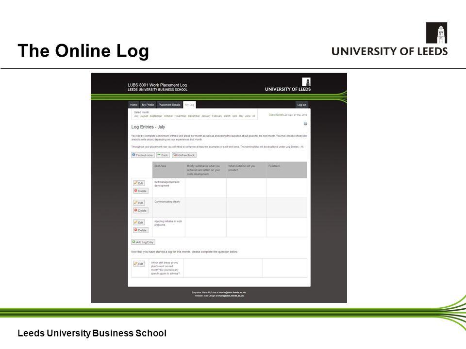 Leeds University Business School The Online Log