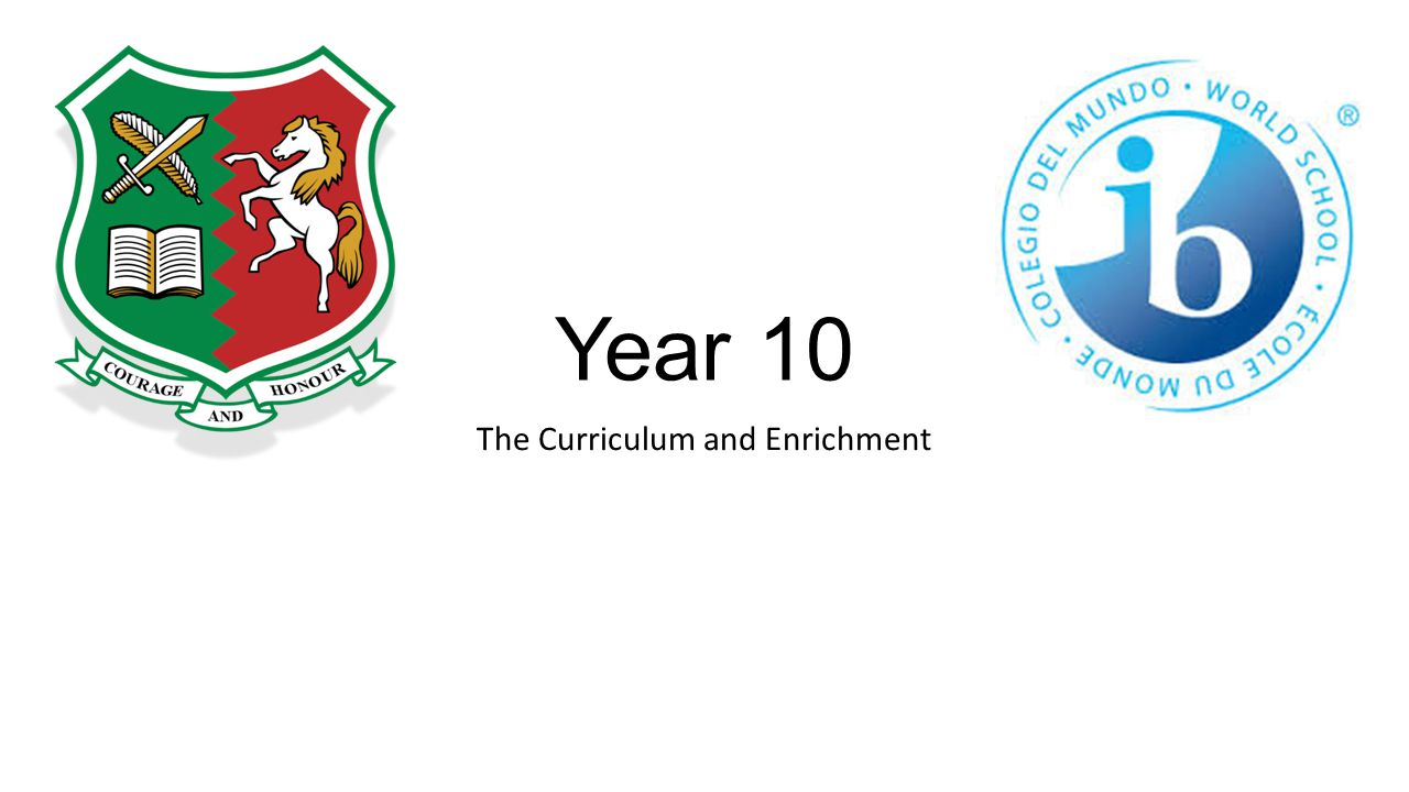 Year 10 The Curriculum and Enrichment