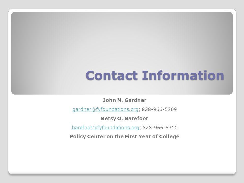 Contact Information John N.