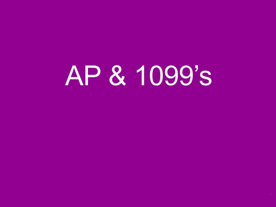 AP & 1099's