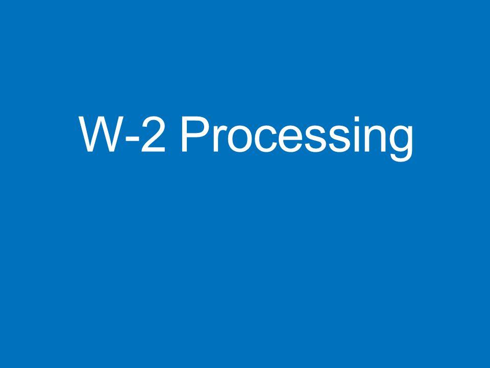 W-2 Processing