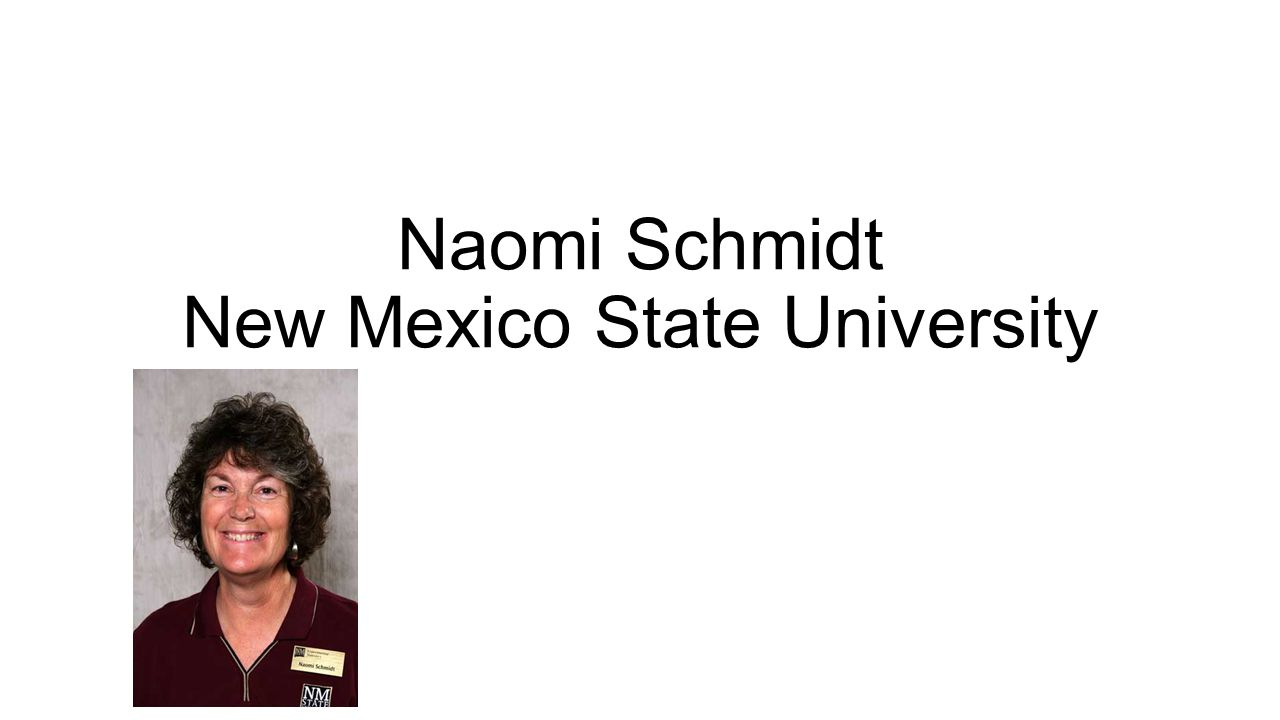 Naomi Schmidt New Mexico State University
