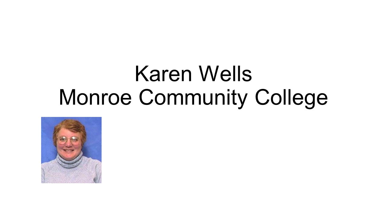 Karen Wells Monroe Community College