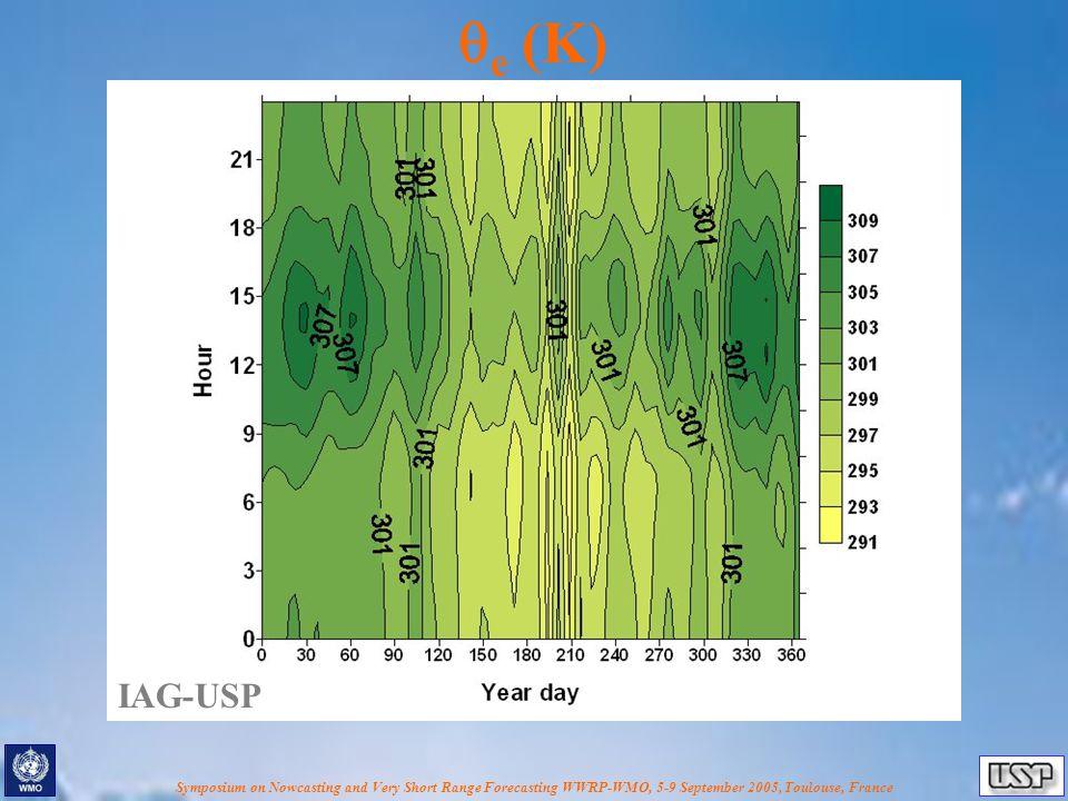 Symposium on Nowcasting and Very Short Range Forecasting WWRP-WMO, 5-9 September 2005, Toulouse, France  e (K) IAG-USP