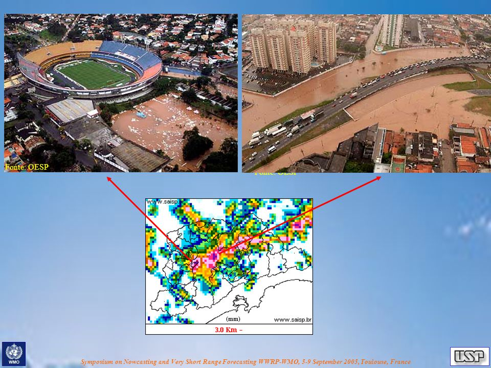 Symposium on Nowcasting and Very Short Range Forecasting WWRP-WMO, 5-9 September 2005, Toulouse, France Totally urbanized in the MASP CBERS-2 image (resolution = 20 m )