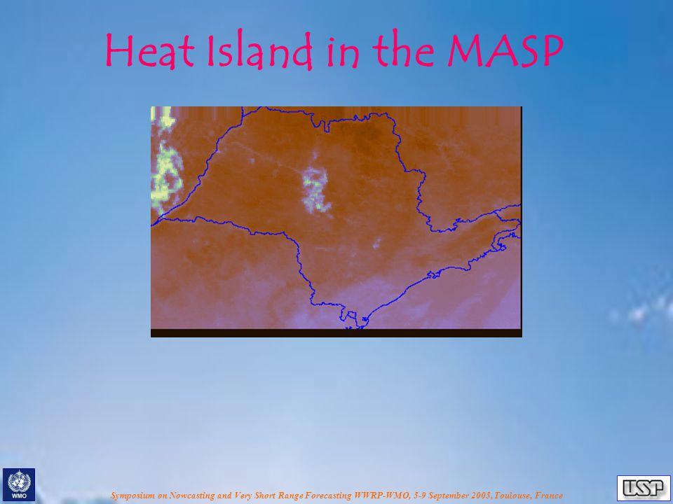 Heat Island in the MASP
