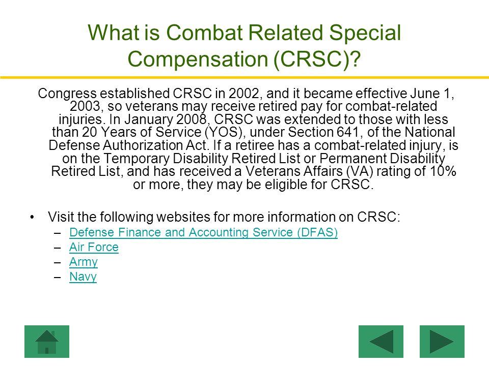 What is Concurrent Retirement and Disability Pay (CRDP).