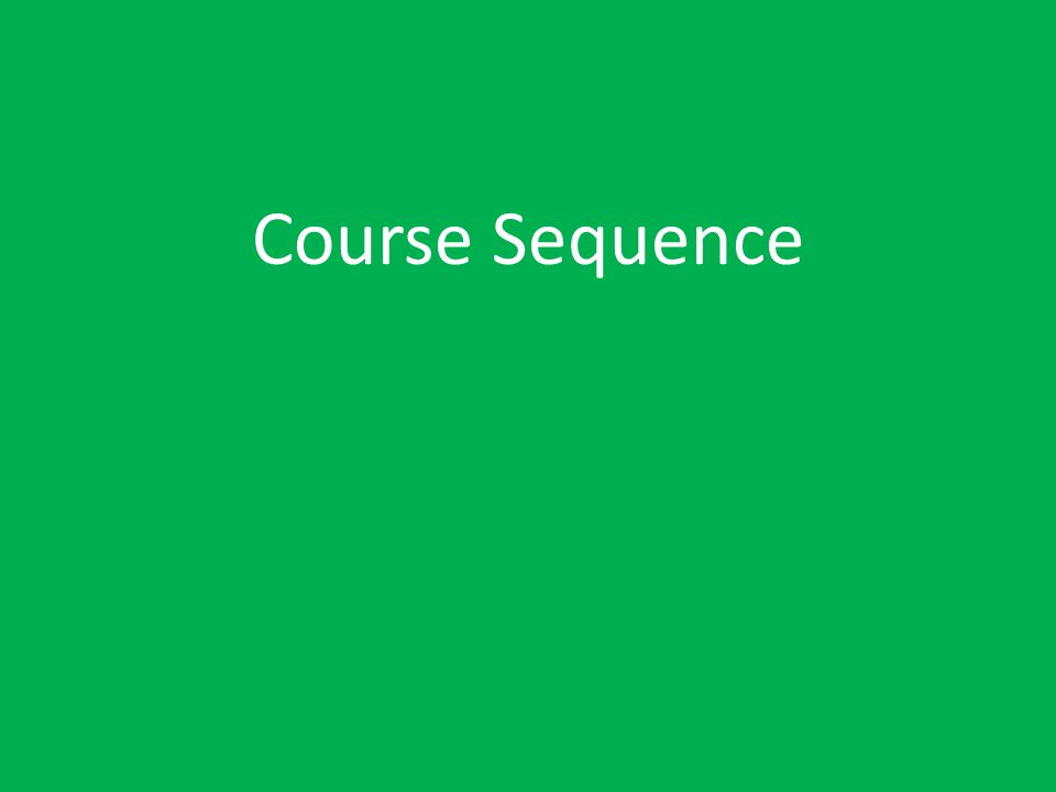 Course Sequence