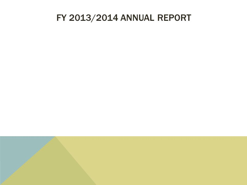 FY 2013/2014 ANNUAL REPORT