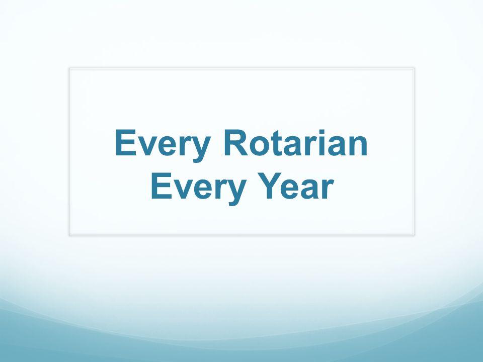 Every Rotarian Every Year