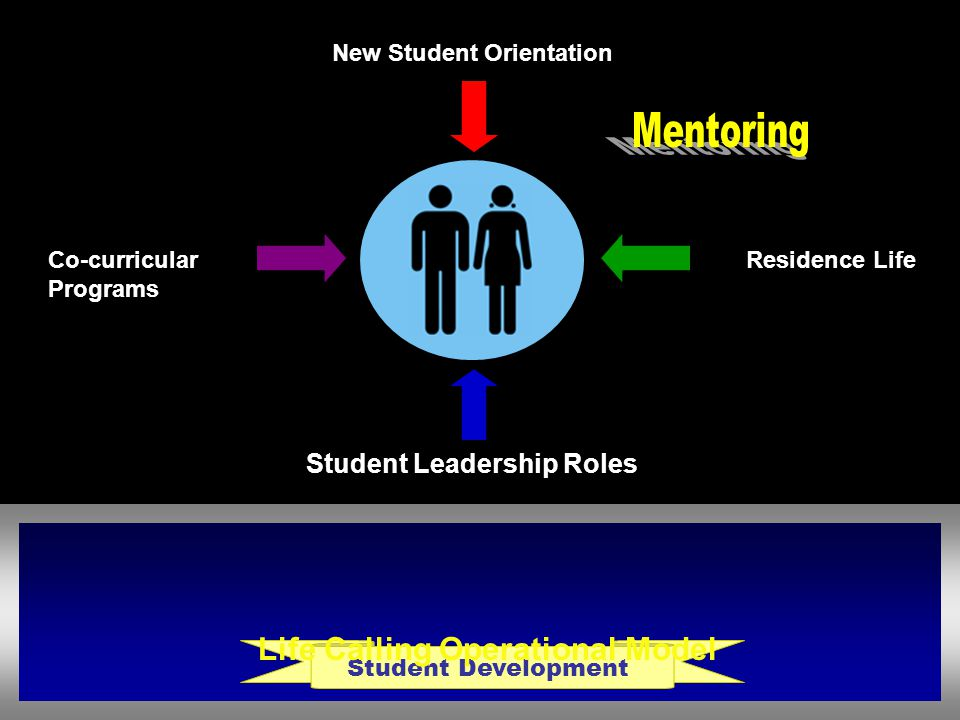 Student Development Life Calling Operational Model Student Leadership Roles New Student Orientation Residence Life Co-curricular Programs