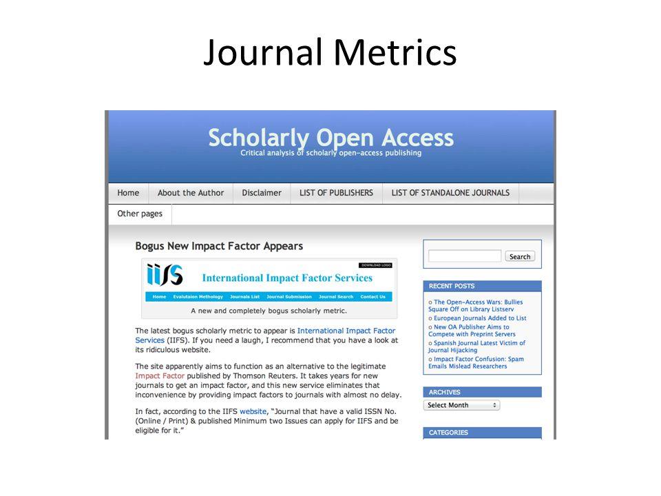Journal Metrics