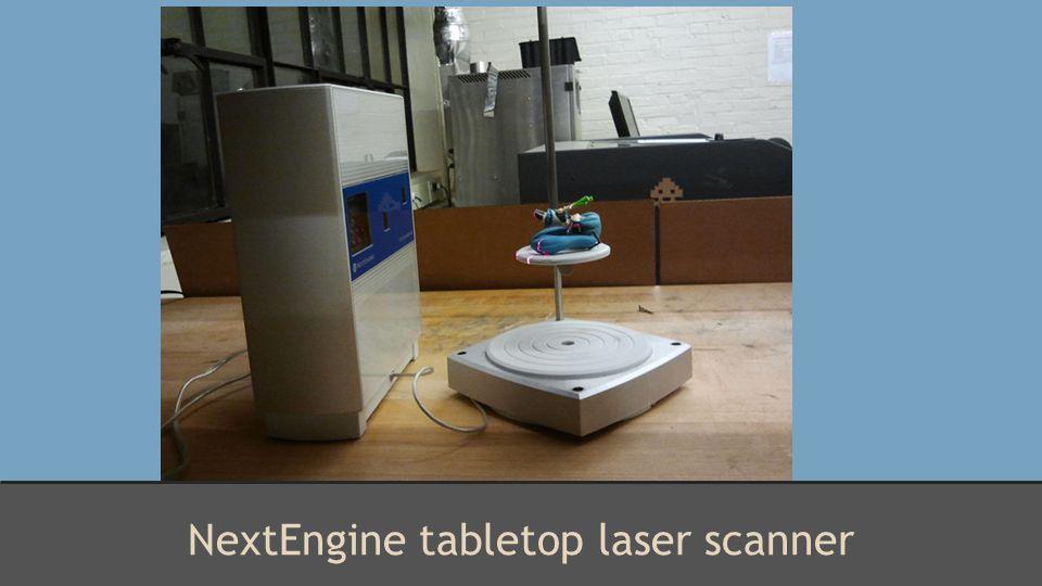 NextEngine tabletop laser scanner