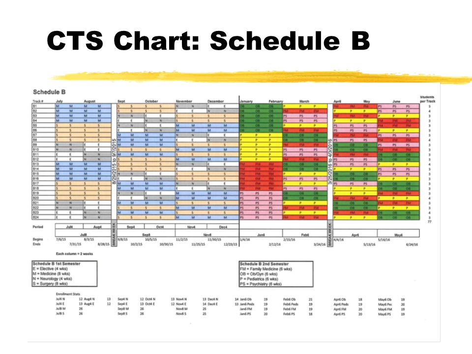 CTS Chart: Schedule B