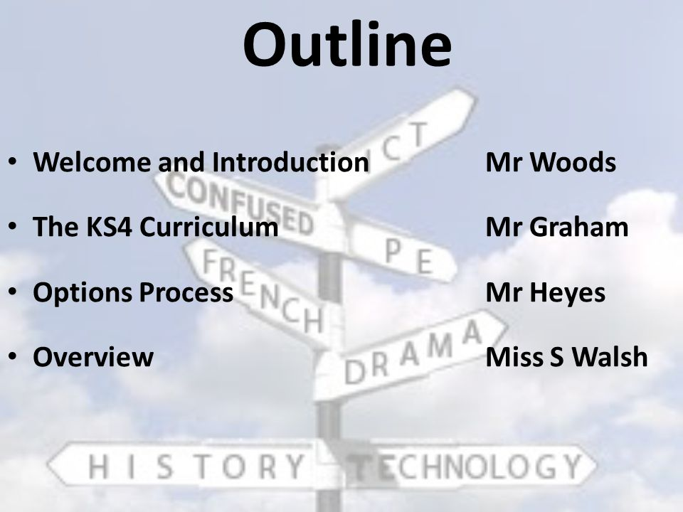 The Curriculum Mr Graham Deputy Headteacher