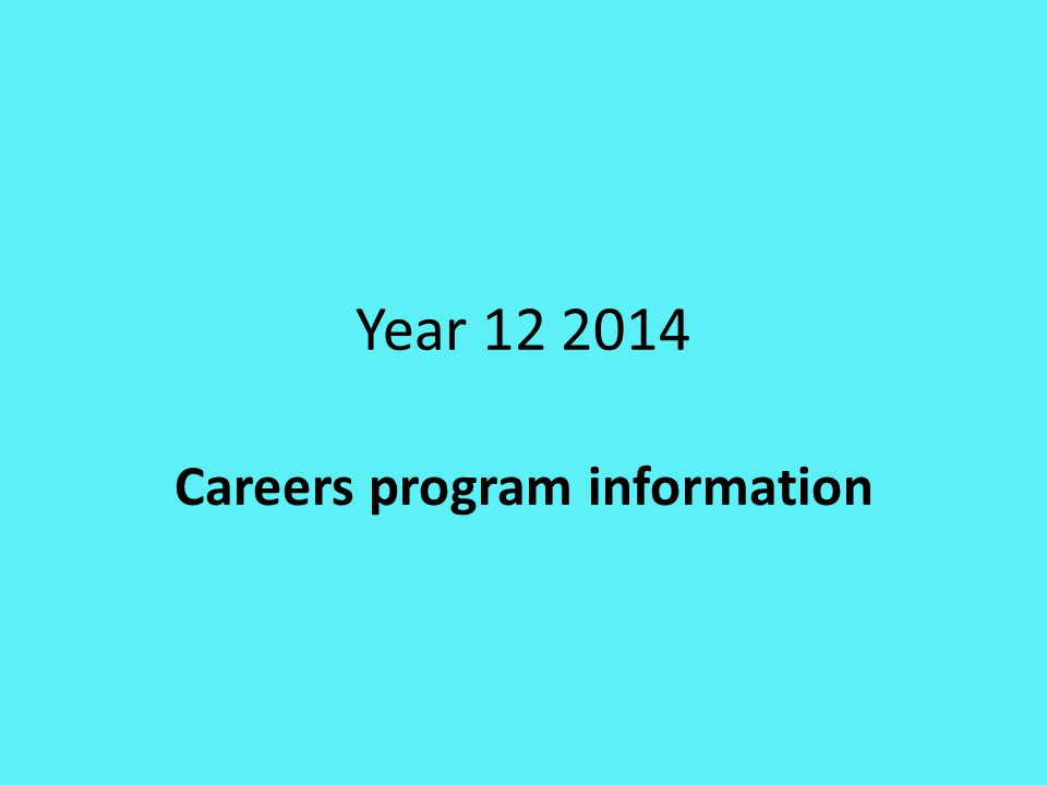 Many Careers Activities throughout the year Entirely up to student to take advantage of these opportunities
