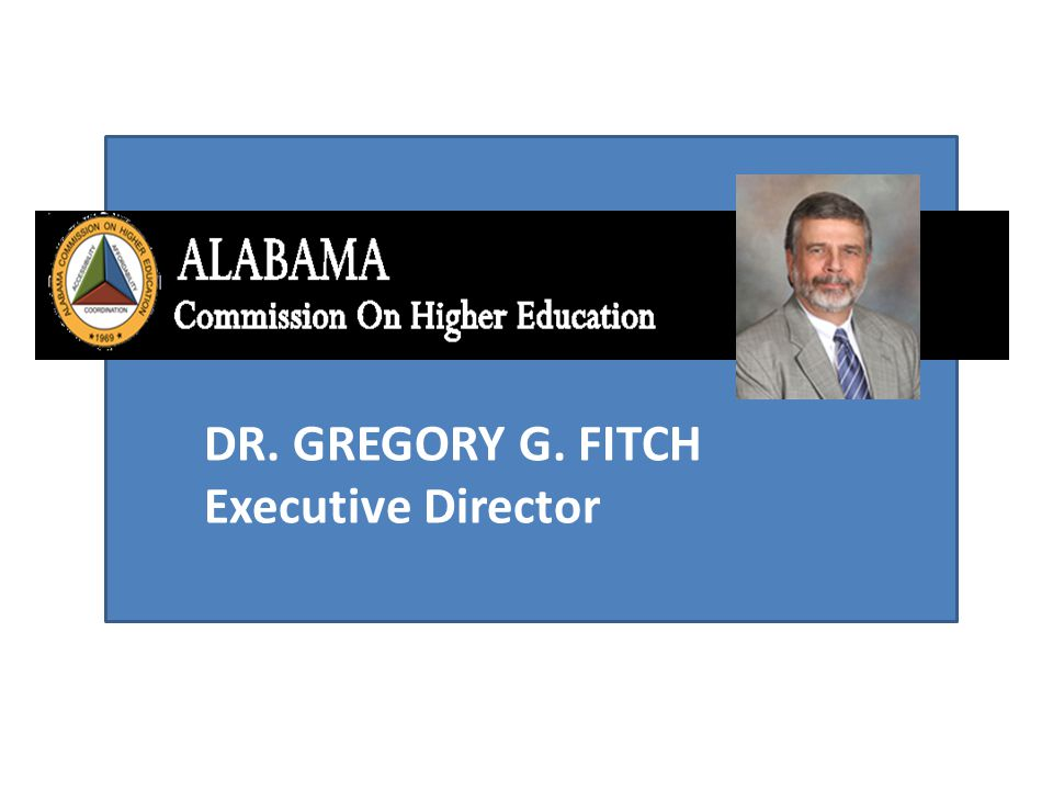 DR. GREGORY G. FITCH Executive Director