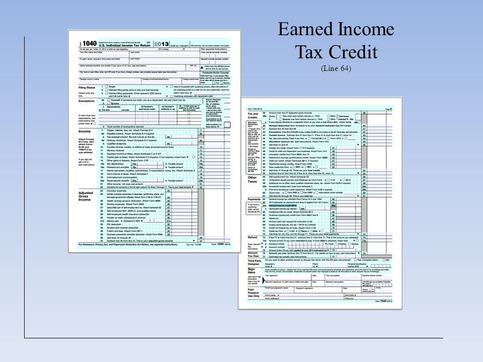 Earned Income Tax Credit (Line 64)