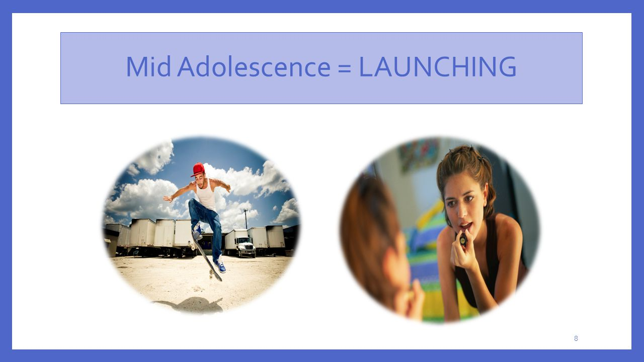 Mid Adolescence = LAUNCHING 8