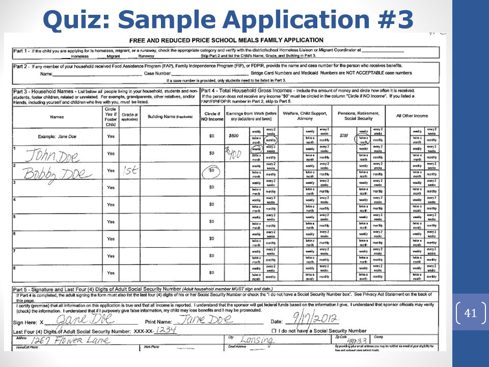 41 Quiz: Sample Application #3