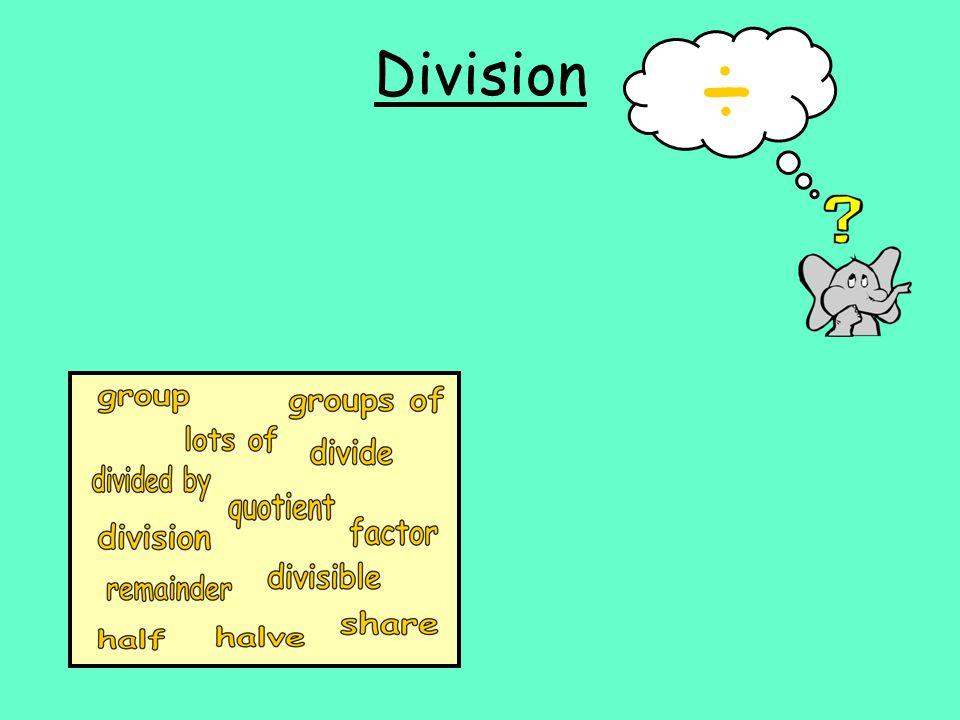Division ÷