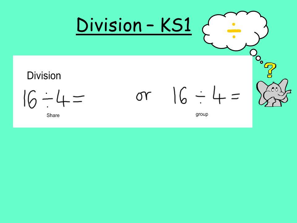Division – KS1 ÷