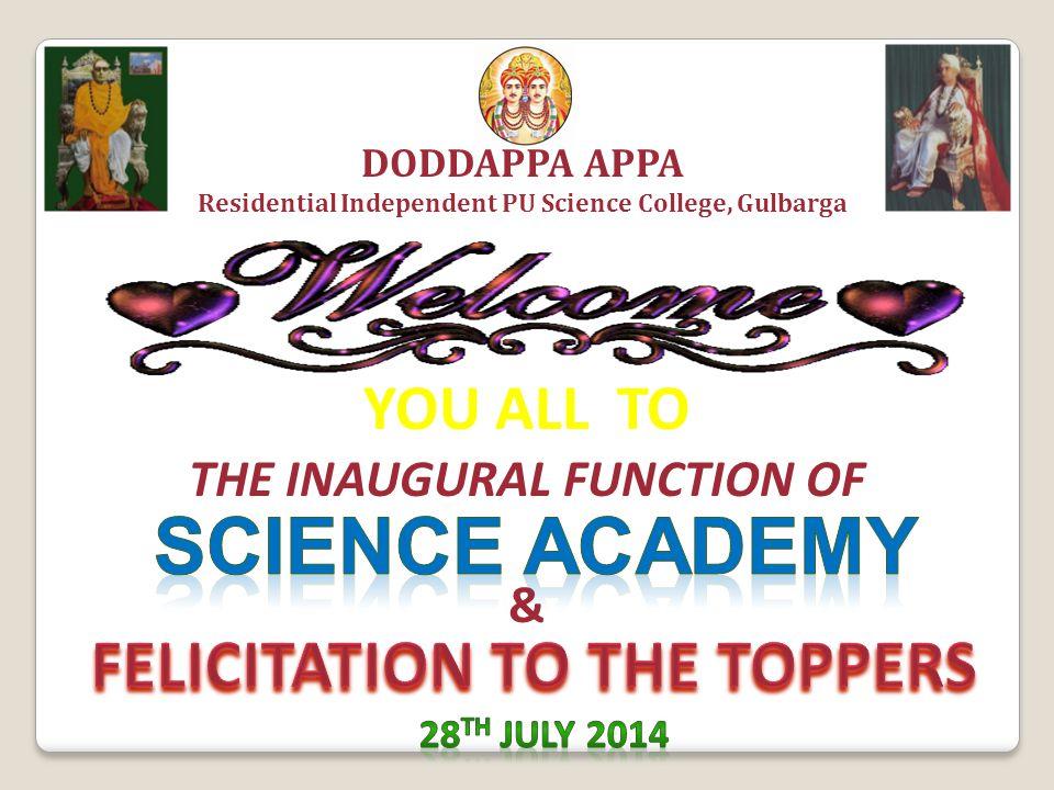 In the benign presence of Poojya Dr.