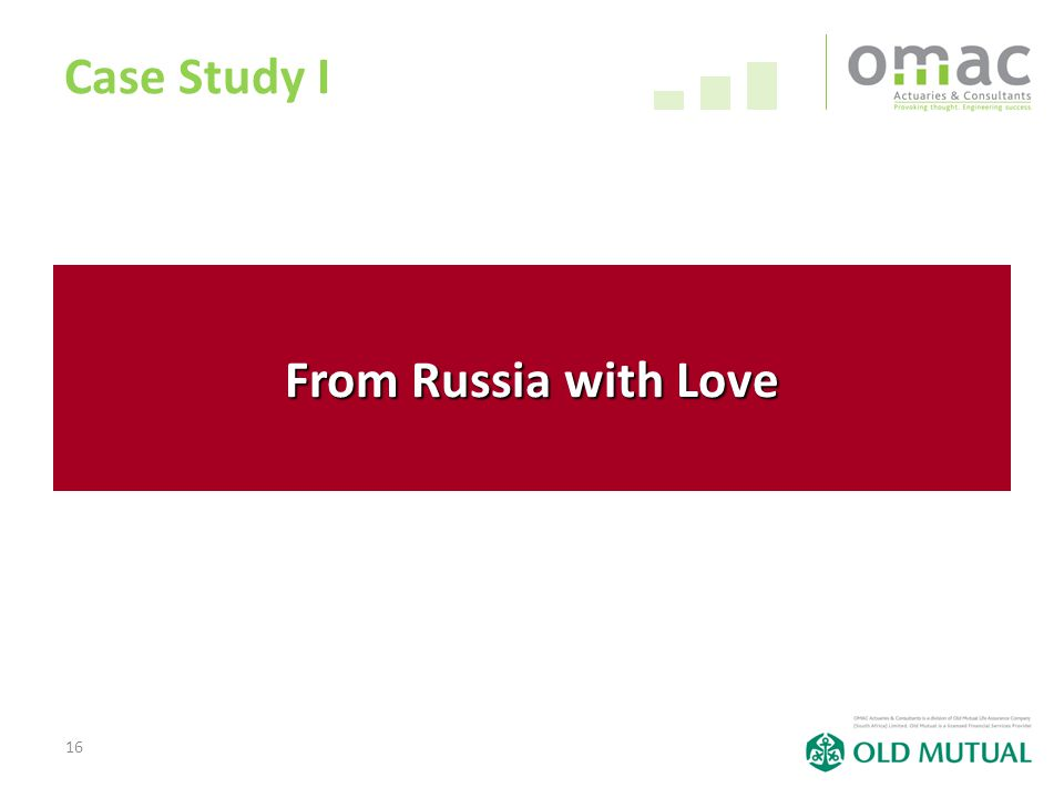 16 Case Study I From Russia with Love