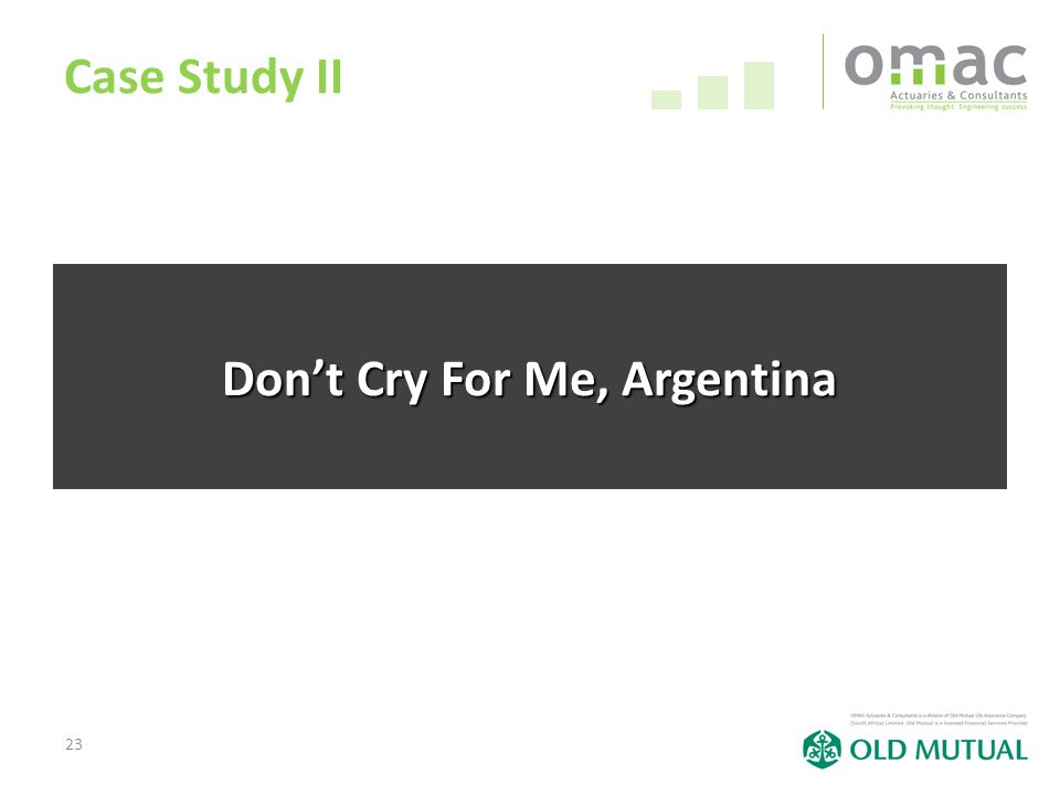23 Case Study II Don't Cry For Me, Argentina