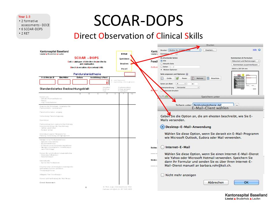 SCOAR-DOPS Direct Observation of Clinical Skills Year 1-3 2 formative assessments - DOCE 6 SCOAR-DOPS 2 RET