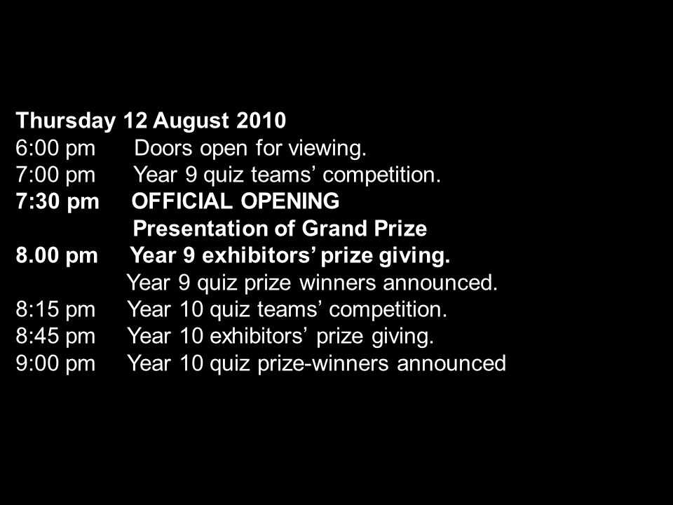 Compiled by Brent Gribbon Maths Spectacular Year 9 Prize Winners