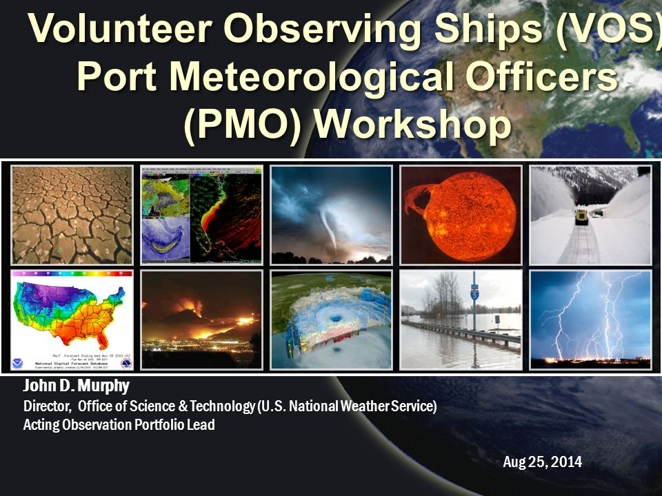 National Weather Service Outline NWS PPA and Hq Restructure Proposed Observation Portfolio Portfolio Introduction FY15 Thrust Areas Baseline Investments FY15 Milestones VOS Normalization 2