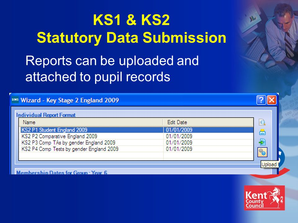 Reports can be uploaded and attached to pupil records KS1 & KS2 Statutory Data Submission