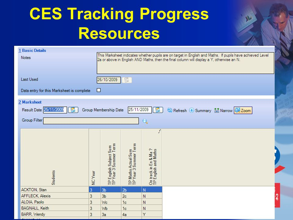 CES Tracking Progress Resources
