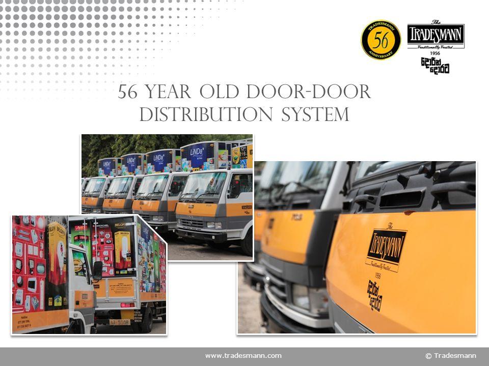 www.tradesmann.com© Tradesmann 56 year old door-door distribution system
