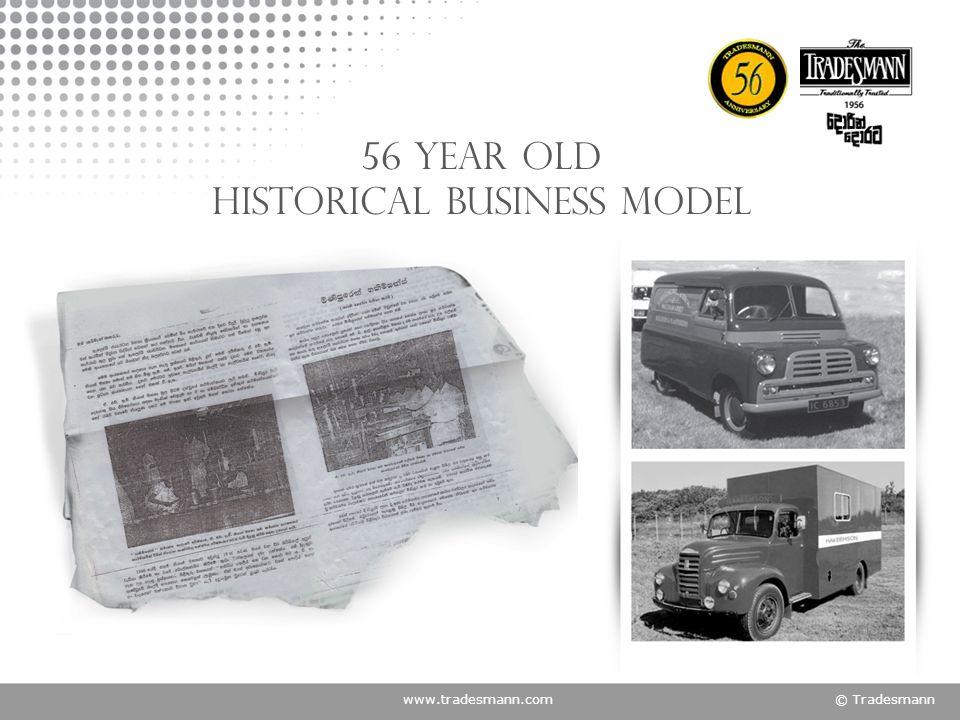 www.tradesmann.com© Tradesmann 56 year old historical business model