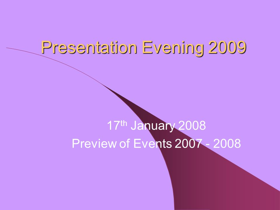 Presentation Evening Headmaster's Introduction Guest Speaker: Mr G.