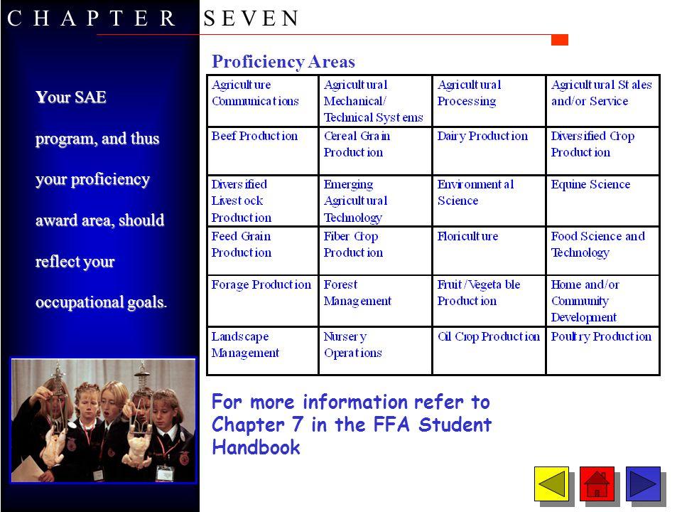 Proficiency Areas C H A P T E R S E V E N