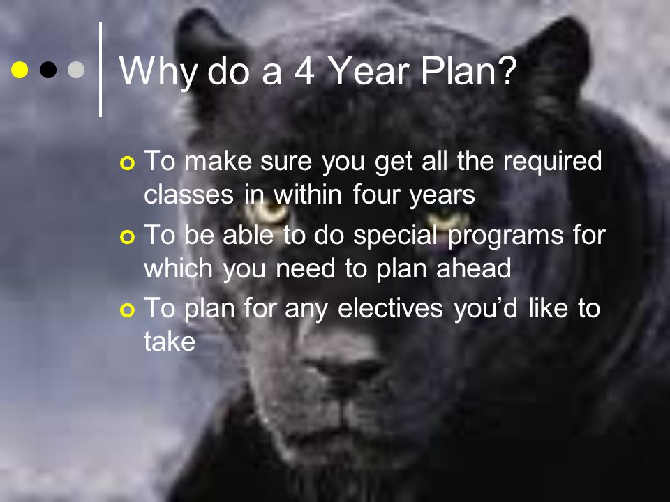 Why do a 4 Year Plan.