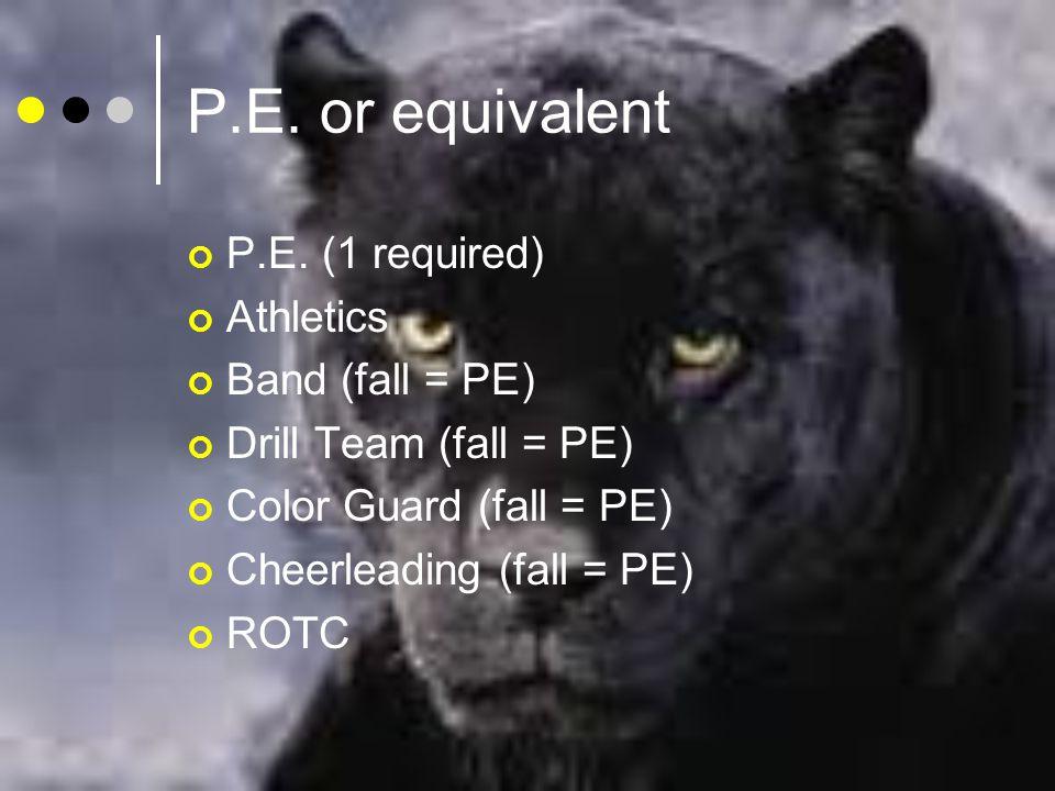 P.E. or equivalent P.E.