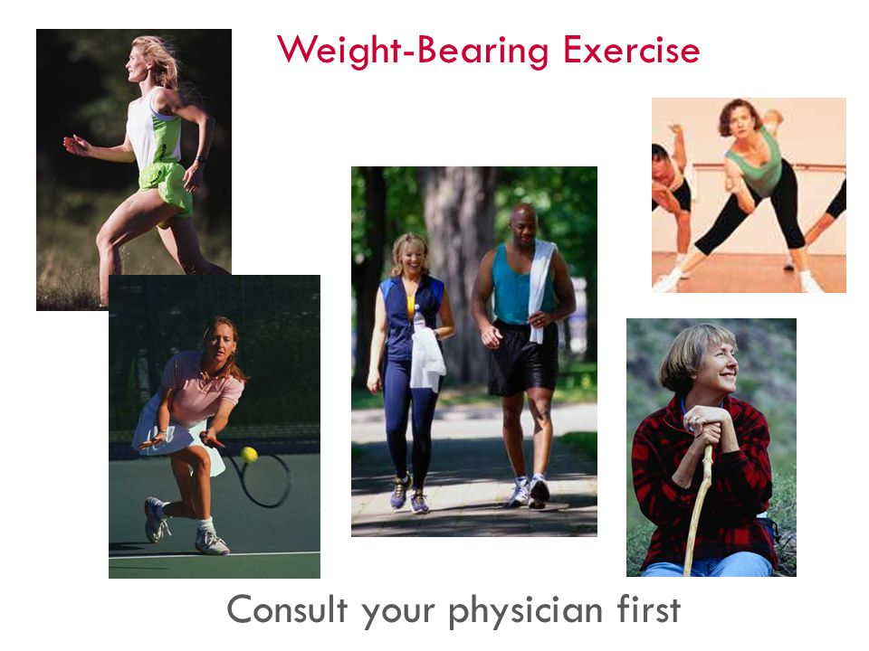 Weight-Bearing Exercise Consult your physician first 45