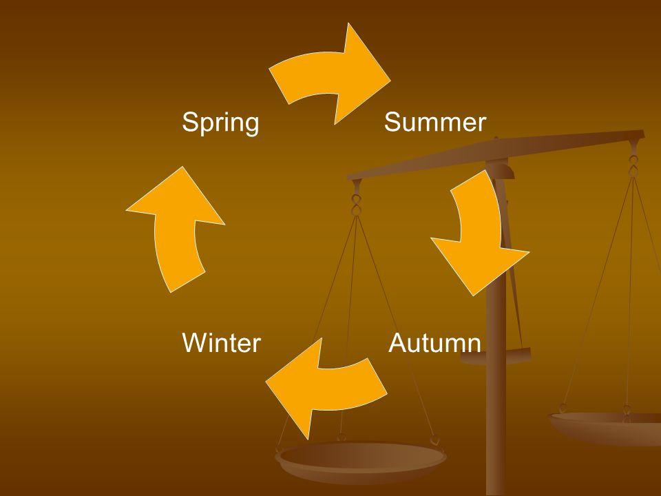Summer AutumnWinter Spring