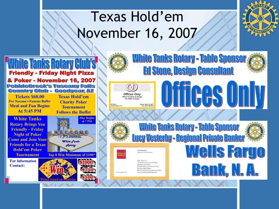 Texas Hold'em November 16, 2007