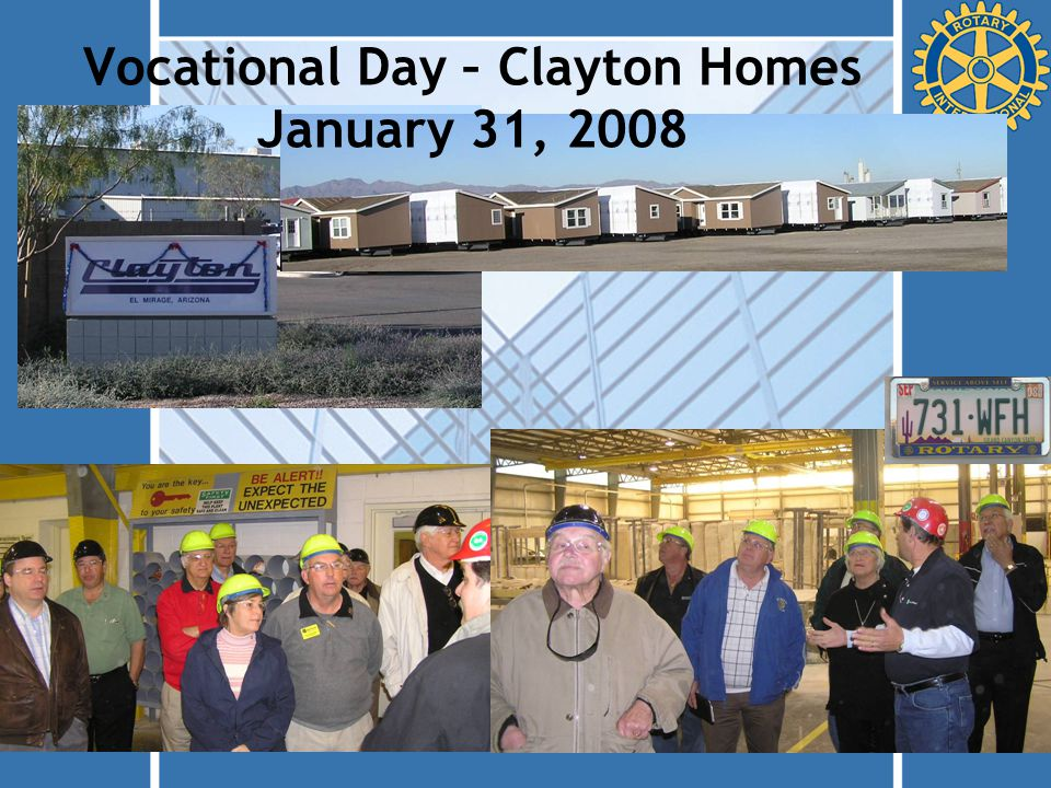 Vocational Day – Clayton Homes January 31, 2008